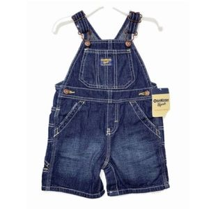 OshKosh B'gosh Denim Shortalls NWT